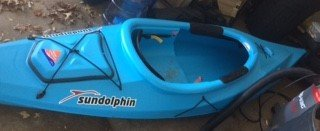 BRAND NEW: Sun Dolphin 10' Sit in Kayak w/ new paddle and new life vest in DeKalb, Illinois