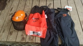 STIHL Chaps, Safety helmet and glasses in Livingston, Texas