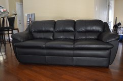 Turner Furniture Leather Couch and Ottoman in Moody AFB, Georgia