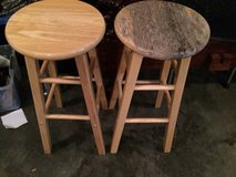 Stool x2 Made of wood in Fort Leonard Wood, Missouri
