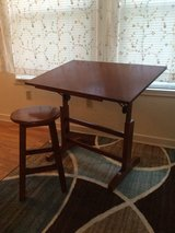 Tiltable Art Desk with Stool in Excellent Condition! in Fort Lewis, Washington