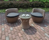 3PC PATIO SET FREE DELIVERY ( EASY STORAGE FEATURE ) in Huntington Beach, California