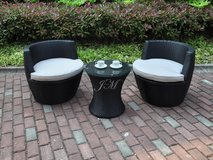 3PC PATIO SET W EASY STORAGE FEATURE FREE DELIVERY in Huntington Beach, California