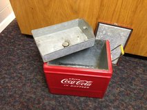 Old coke ice chest in Beaufort, South Carolina
