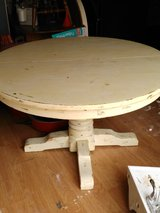 Huge Round White Table...distressed in Houston, Texas