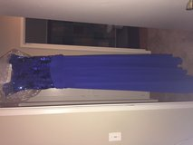 Royal blue dress-Large. Worn once and been dry cleaned in Camp Pendleton, California