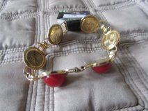 Red and Gold Bracelet in Naperville, Illinois
