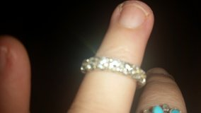 Diamonds ring 7 quality stones set in platinum. 14k  Really Beautiful for a lucky lady. in Alamogordo, New Mexico