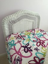 Wicker Headboard with mattress & bed frame in Naperville, Illinois