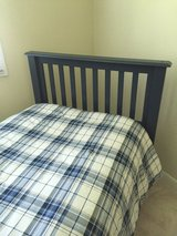 Twin Headboard with mattress & bed frame in Naperville, Illinois