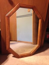 mirror with oak frame in Naperville, Illinois