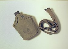 WWII genuine army canteen and belt in Batavia, Illinois
