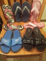 BTS Girls Size 2 Candies Slides, Size 1 - 2 Flip Flops in Westmont, Illinois