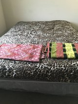 1 Queen Size Bed with Box Spring and Stand in Cleveland, Ohio