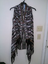 One Size Summery Tunic Cover-up. Lovely Zebra print with Tassels and Floral Detailing. in Alamogordo, New Mexico