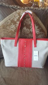 Nine West red/beige new tote purse in Bolingbrook, Illinois
