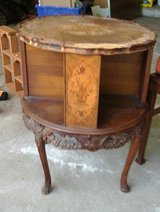 Inlaid Walnut End Table in Chicago, Illinois