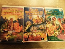 Land Before Time 2, 3 & 4 VHS in Houston, Texas