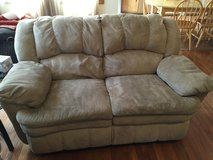 Microfiber Couch and Love Seat - Tan in Glendale Heights, Illinois