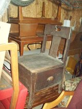 Antique Heavy Wooden Sewing Chair in Chicago, Illinois