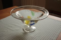 Clear Glass Bowl with Colored Leaves in Ramstein, Germany