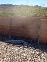 60 inch tall by 72 inch wide chain-link gate in Alamogordo, New Mexico