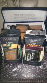 Two starter packs of magic the gathering cards plus some extra in Fort Carson, Colorado