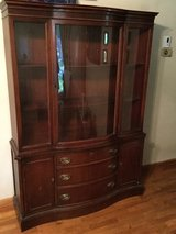 Antique China cabinet in Fort Leavenworth, Kansas