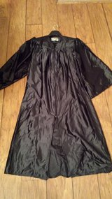 "Graduation Robe, Fits 5'3"" to 5'5"", Black in Houston, Texas"