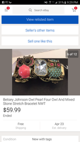 Betsey Johnson owl bracelet in Camp Lejeune, North Carolina