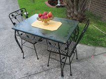 Vintage Patio Table With 2 Chairs At Twice As Nice Flea Market Booth # 605 in Camp Lejeune, North Carolina