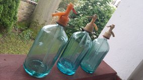 Beautiful Teal Seltzer Bottles in Ramstein, Germany