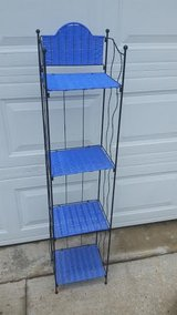 Blue Wicker / Iron Stand in Fort Campbell, Kentucky