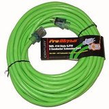 NEW century pro power 50 ft heavy duty neon green lighted electric extension cord in Naperville, Illinois