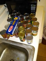 Free canned food in Baytown, Texas