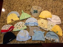 Collection of NB baby hats (18 items) in Naperville, Illinois