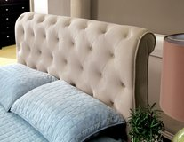 VELVET TUFTED QUEEN BED FREE DELIVERY in Huntington Beach, California