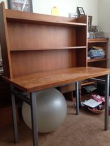 Study Desk metal and wood with two shelves ~ Industrial style in Morris, Illinois