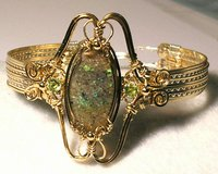 LOUISIANA OPAL (Extremely Rare) Bracelet with Peridot - Beautiful Fire/Colors!!! in Lake Charles, Louisiana