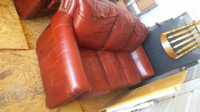 Red Leather Sofa and lovseat in Barstow, California