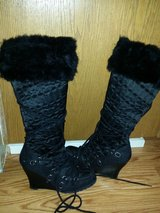 8.5 women's black knee high boots in Travis AFB, California