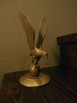 Vintage brass eagle statue in Cleveland, Texas