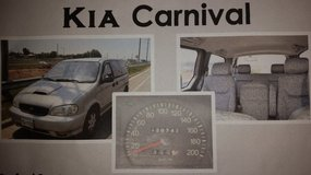 2000 Kia Carnival with AVOL GPS included! Low mileage! Great Family Vehicle!! in Camp Humphreys, South Korea