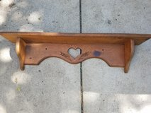 Wood heart shelf in St. Charles, Illinois