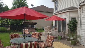 New Patio Umbrella! Never used!Has push button tilt too! in Lockport, Illinois