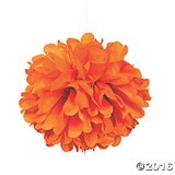"NIP! 6 - 15"" Orange Pom-Pom Tissue Decorations in Bartlett, Illinois"