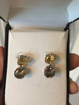 Smoky Quartz & Citrine Drop Earrings in Camp Lejeune, North Carolina