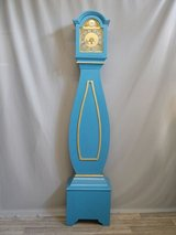 Swedish Mora Clock beautiful blue /gold colour around 1890 in Ramstein, Germany