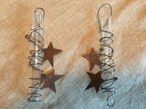 Decorative Hanging Tubes w/Rustic Stars in Yorkville, Illinois