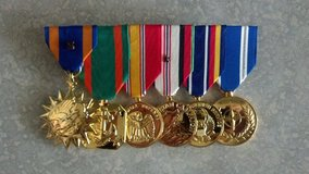 Military medals professionally mounted in 29 Palms, California
